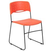 Flash Furniture HERCULES Series Plastic Stack Chair Vented, Orange (RUTNC558AOR)