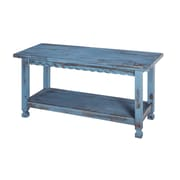 Alaterre Country Cottage Bench with Blue Antique Finish (ACCA03BA)