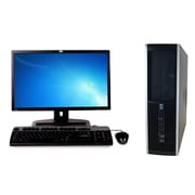 Refurbished HP 6200 Pro Sff  Intel Core I3 2100 3.1Ghz 4GB Ram 250GB Hard Drive DVD Windows 10 Home Bundled With 19 Lcd Monitor