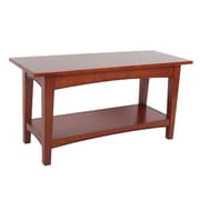 Alaterre Shaker Cottage Bench with Shelf with Cherry Finish (ASCA0360)