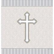 "Creative Converting 54""W x 108""L Devotion Plastic Tablecloth (722543)"