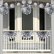Creative Converting Silver Foil Party Decorations Kit (DTCFLSLV1A)