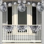 Creative Converting Silver Foil Party Decorations Kit (DTCFLSLV1A)
