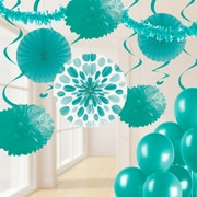 Creative Converting Teal Lagoon Party Decorations Kit (DTCTEAL1A)