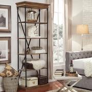 """HomeBelle 33""""W Metal Bookcase (78E29612S3A)"""