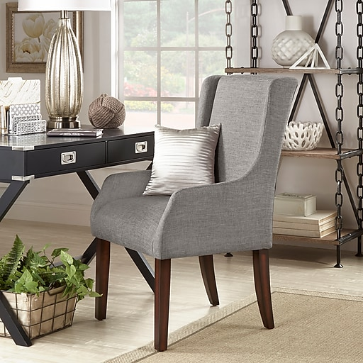 Sensational Homebelle Grey Linen Sloping Track Arm Accent Chair 78E546Cgl3A Squirreltailoven Fun Painted Chair Ideas Images Squirreltailovenorg