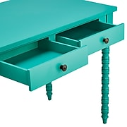 HomeBelle Marine Green Finish Writing Desk With Helix Legs (78E577AMG3A)