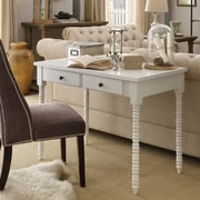 HomeBelle White Finish Writing Desk With Helix Legs (78E577AWH3A)