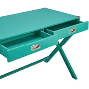 HomeBelle Marine Green Finish X-Base Box Desk (78E581AMG3A)