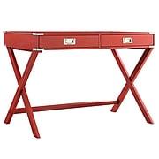 HomeBelle Samba Red Finish X-Base Box Desk (78E581AR3A)
