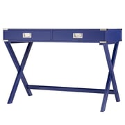 HomeBelle Twilight Blue Finish X-Base Box Desk (78E581ATB3A)