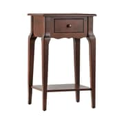 HomeBelle Espresso Finish Accent Table With Shelf (78E711AES3A)