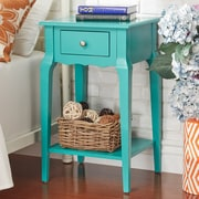HomeBelle Marine Green Finish Accent Table With Shelf (78E711AMG3A)