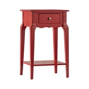 HomeBelle Samba Red Finish Accent Table With Shelf (78E711AR3A)