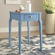 HomeBelle Heritage Blue Finish Side Table (78E712ABU3A)