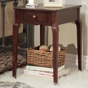 HomeBelle Espresso Finish Side Table (78E712AES3A)