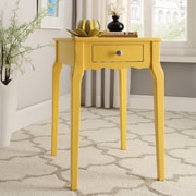 HomeBelle Banana Yellow Finish Side Table (78E712AY3A)