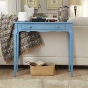 HomeBelle Heritage Blue Finish Console Table (78E713ABU3A)