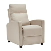 HomeBelle Beige Linen Reclining Chair (78E785BL13A)