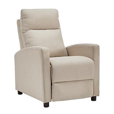 HomeBelle Beige Linen Reclining Chair (78E785BL13A)