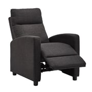 HomeBelle Dark Grey Linen Reclining Chair (78E785DGL13A)