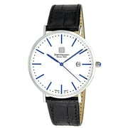Steinhausen Men's Classic Burgdorf Swiss Quartz Stainless Steel Watch With Leather Band (S0520)