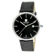 Steinhausen Men's Classic Burgdorf Swiss Quartz Stainless Steel Watch With Leather Band (S0519)