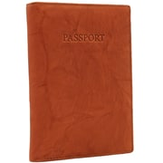 Visconti RFID-Blocking Brown Leather Passport Wallet (2201 BROWN)