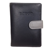 Visconti Multicolored Black Leather Passport Wallet (RB75 BLACK)