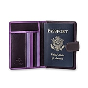 Visconti Multicolored Lilac Leather Passport Wallet (RB75 LILAC)