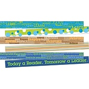 Barker Creek Word Wall Double-Sided Border with Motivational Words, 3/Pack (BC3732)