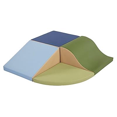 ECR4Kids SoftZone® Little Me Corner Climb & Slide, Earthtone (ELR-12682F-ET)