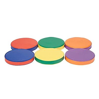 ECR4Kids SoftZone® Colorful Two-Tone Cushions, 6-Piece (ELR-12686)