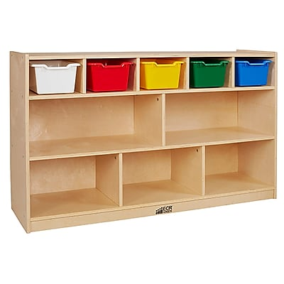 ECR4Kids Birch 5+5 Storage and Tray Cabinet, Assorted (ELR-17255F-AS)