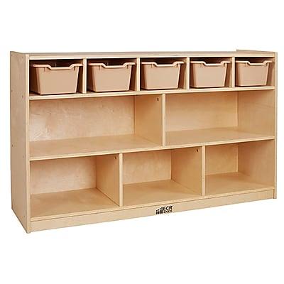 ECR4Kids Birch 5+5 Storage and Tray Cabinet, Sand (ELR-17255F-SD)