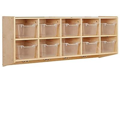 ECR4Kids 10-Section Hanging Coat Locker with Bins, CL (ELR-17304-CL)