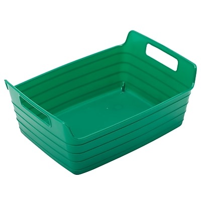 ECR4Kids Small Bendi-Bin with Handles, Green/12 Pack (ELR-20509-GN)