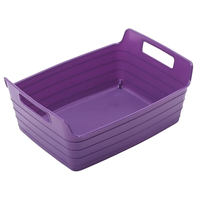 ECR4Kids Small Bendi-Bin with Handles, Purple/12 Pack (ELR-20509-PU)