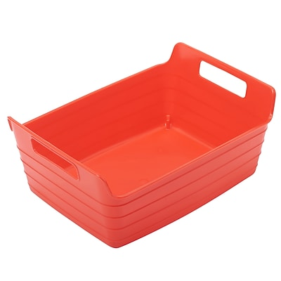 ECR4Kids Small Bendi-Bin with Handles, Red/12 Pack (ELR-20509-RD)