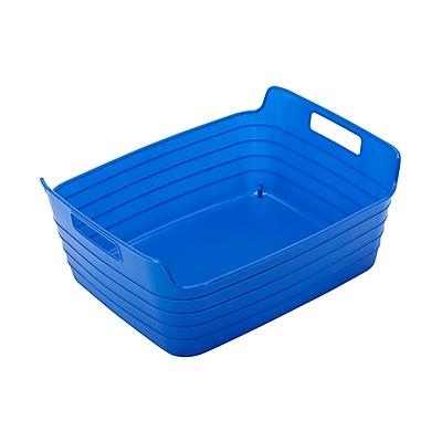 ECR4Kids Medium Bendi-Bin with Handles, Blue/12 Pack (ELR-20510-BL)