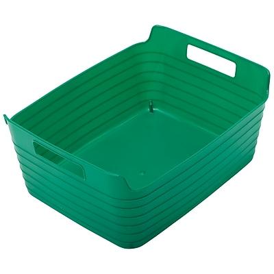 ECR4Kids Large Bendi-Bin with Handles, Green/12 Pack (ELR-20511-GN)
