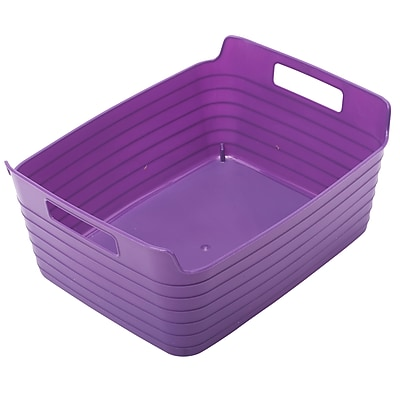 ECR4Kids Large Bendi-Bin with Handles, Purple/12 Pack (ELR-20511-PU)