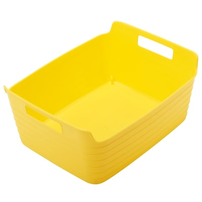 ECR4Kids Large Bendi-Bin with Handles, Yellow 12 Pack (ELR-20511-YE)