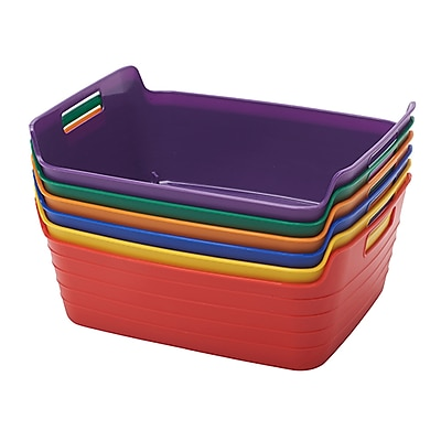 ECR4Kids Medium Bendi-Bin with Handle, Assorted (ELR-20517-AS)