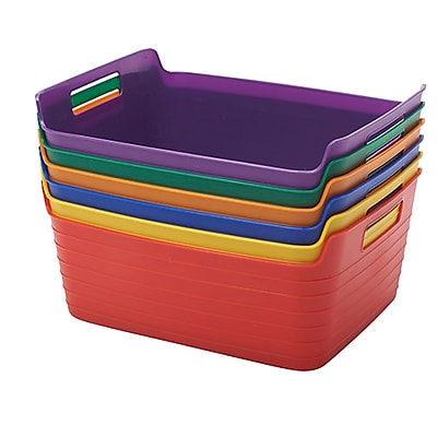 ECR4Kids Large Bendi-Bin with Handle, Assorted (ELR-20518-AS)