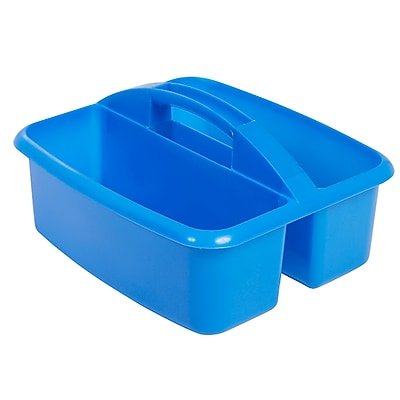 ECR4Kids 2 Compartment Large Art Caddy, Blue/12 Pack (ELR-0177-BL)