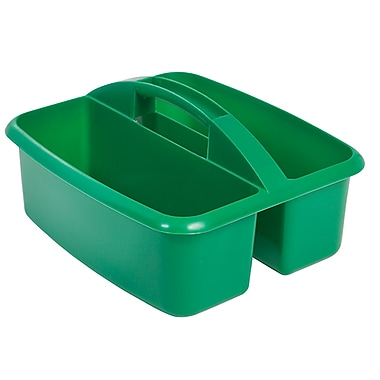 ECR4Kids 2 Compartment Large Art Caddy, Green/12 Pack (ELR-0177-GN)