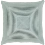 "Surya Akira Pillow Kit, 20""H x 20""W x 4""D, Silver Gray (AKA001-2020D)"