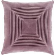 """Surya Akira Pillow Kit, 20""""H x 20""""W x 4""""D, Mauve (AKA002-2020P)"""