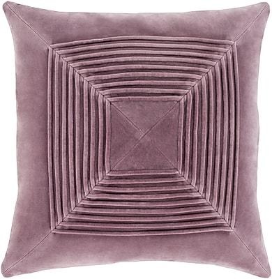 """Surya Akira Pillow Kit, 20""""H x 20""""W x 4""""D, Mauve (AKA002-2020D)"""